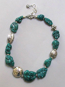Chinese Turquoise Nugget Necklace