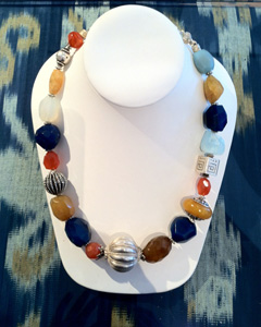 Chalcedony, Baltic amber, Balinese sterling
