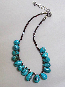 Teardrop Turquoise Necklace